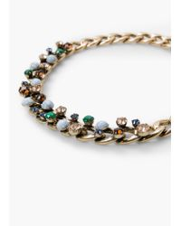 Mango - Metallic Faceted Stone Necklace - Lyst