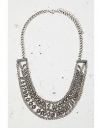 Forever 21 - Metallic Circle Charm Collar Necklace - Lyst