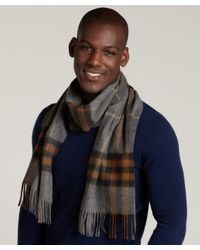 Burberry | Brown Giant Check Cashmere Scarf for Men | Lyst