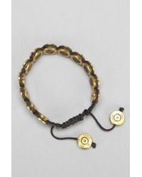 Urban Outfitters - Metallic Lovebullets Flat Drawstring Bracelet for Men - Lyst