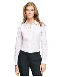 Brooks Brothers | Pink Non-iron Fitted Dress Shirt | Lyst
