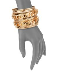 Cara Couture - Metallic Multi Bangle Bracelet Set/gold - Lyst