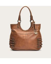 Frye | Brown Selena Belted Zip Shoulder | Lyst