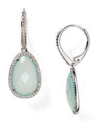 Nadri - Metallic Sterling Silver & Ocean Blue Drop Earrings - Lyst
