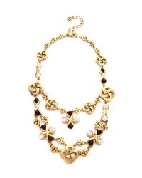 Oscar de la Renta | Metallic Mosaico Necklace | Lyst
