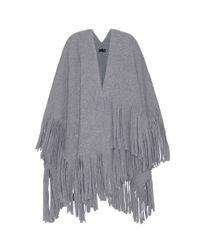 Burberry Prorsum - Gray Wool-blend Cape - Lyst