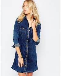 Pepe Jeans | Blue Denim Dress | Lyst