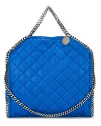 Stella McCartney - Blue 'falabella' Quilted Tote - Lyst