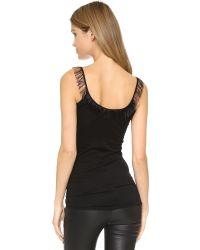 Helmut Lang | Feather Tank - Black | Lyst