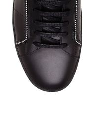 Saint Laurent - Black Leather And Crystal High Tops for Men - Lyst