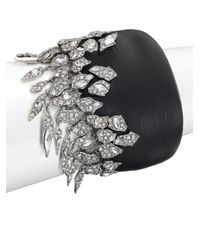 Alexis Bittar | Black Lucite Glacial Crystal Cascading Pavé Cuff Bracelet | Lyst