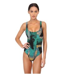 Vivienne Westwood Anglomania | Green Propaganda Swuimsuit | Lyst