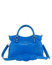 Balenciaga - Blue Giant 12 Nickel Town Bag - Lyst