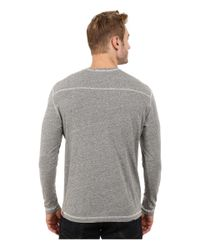 Agave | Gray Long Sleeve Vee Streaky Jersey for Men | Lyst