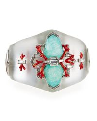 Alexis Bittar | Metallic Mirrored Bedarra Hinge Bracelet | Lyst