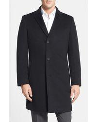 John W. Nordstrom - Black 'clifton' Cashmere Topcoat for Men - Lyst