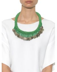 Muzungu Sisters   Green Beaded Coin Necklace   Lyst