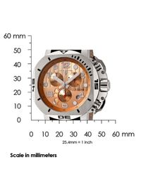 Swiss Legend - Scubador Chronograph Brown Genuine Leather Rose-tone Dial for Men - Lyst