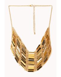 Forever 21 | Metallic Gilded Godess Bib Necklace | Lyst