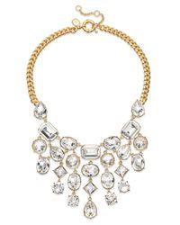 Lauren by Ralph Lauren - Metallic Signature Collection Gold-Tone Swarovski Crystal Bib Necklace - Lyst