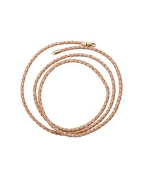 Katherine Jetter | Metallic Braided Leather Cord Necklace | Lyst