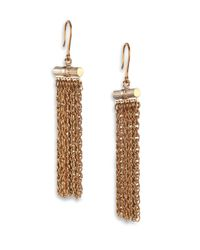 Lanvin - Metallic Cate Chain Tassel Earrings - Lyst