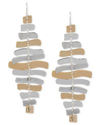 Robert Lee Morris | Metallic Two-tone Sculptural Chandelier Earrings | Lyst
