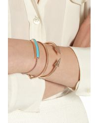 Monica Vinader - Blue Rose Gold Vermeil Turquoise Bracelet - Lyst