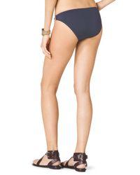 Michael Kors - Blue Michael Bikini Bottom with Hardware - Lyst