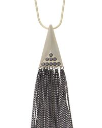Oasis | Metallic Gold Tassel Long Necklace | Lyst