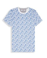 Ben Sherman | Blue Paisley Print T-shirt for Men | Lyst