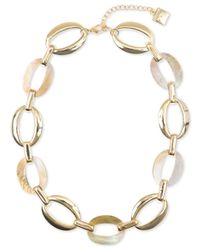 Anne Klein | Metallic Gold-tone Link All-around Collar Necklace | Lyst