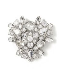Banana Republic - White Sparkle Cluster Pin - Lyst