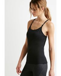 Forever 21 | Black Strappy Back Athletic Tank | Lyst