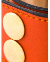 Moschino - Orange Logo Plaque Cuff - Lyst
