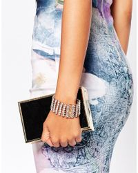Ted Baker | Metallic Crystal Band Bracelet | Lyst