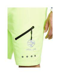 "Ralph Lauren - Green 9"" Solid White Cap Swim Trunk for Men - Lyst"