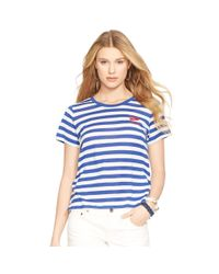 Polo Ralph Lauren | Blue Striped Cotton Jersey Tee | Lyst