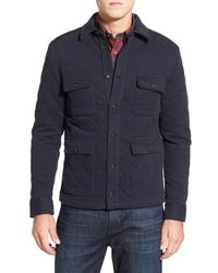 Brooks Brothers | Blue Regular Fit Quilted Cotton Blend Jacket for Men | Lyst