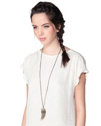 Room Service - Metallic Necklace / Longcollar - Lyst