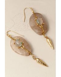 Anthropologie | Green Marbled Orion Earrings | Lyst
