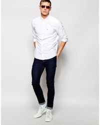 Hollister | White Laundered Oxford Shirt With Logo for Men | Lyst
