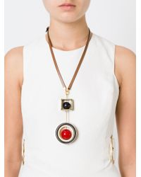 Marni | Black Geometric Pendant Necklace | Lyst