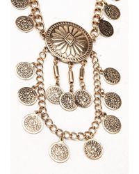 Forever 21 - Metallic Sunburst Pendant Necklace Set - Lyst
