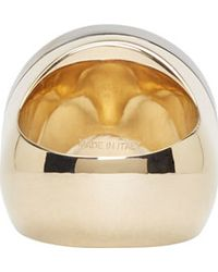 Givenchy | Metallic Gold Chevaliere Circular Ring | Lyst
