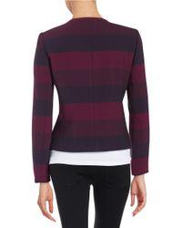 Tahari | Purple Striped Jacket | Lyst