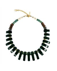 Lizzie Fortunato - Dark Green Tile Necklace - Lyst