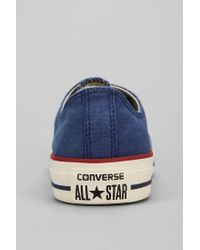 a22ba8294ed0 Converse - Blue Chuck Taylor All Star Washed Canvas Lowtop Mens Sneaker for  Men - Lyst