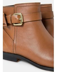 Violeta by Mango | Brown Buckle Ankle Boots | Lyst
