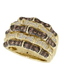 Le Vian | Metallic Chocolate And Vanilla Diamond 14k Yellow Gold Ring, 1.27 Tcw | Lyst